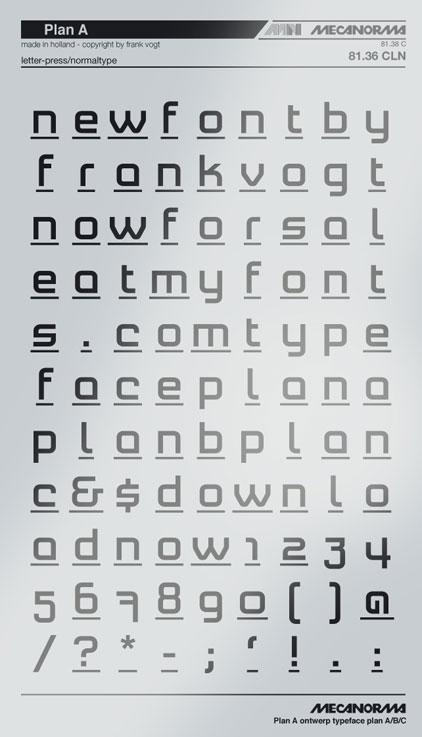 Plan A typeface